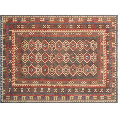 Vallejo Kilim Hand-Woven Brown Area Rug