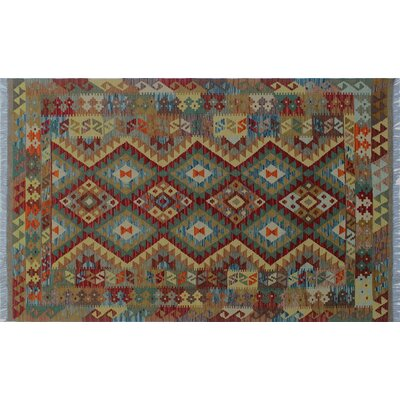 One-of-a-Kind Rucker Hand-Woven Red Area Rug