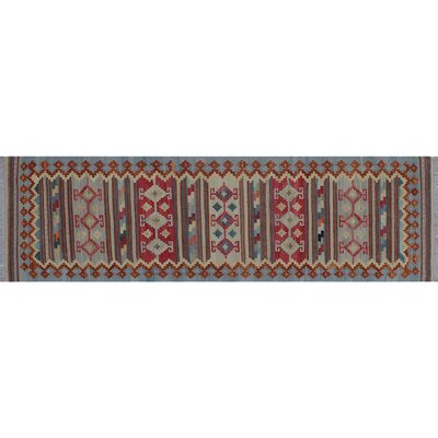 One-of-a-Kind Rucker Kilim Southwestern Hand-Woven Gray Area Rug