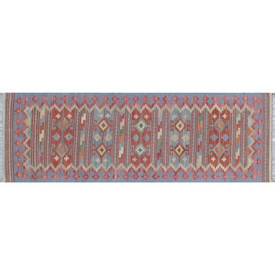 One-of-a-Kind Rucker Kilim Hand-Woven Gray Area Rug