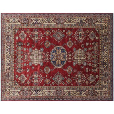Heron Hand-Knotted Red Area Rug