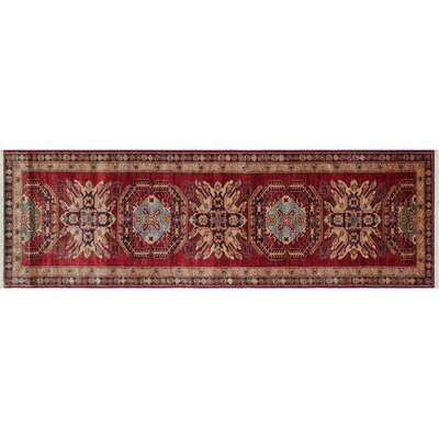 Heron Hand-Knotted Red Indoor Area Rug