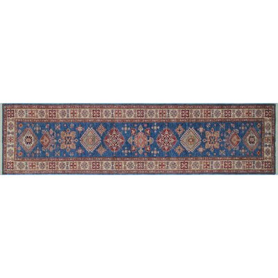 One-of-a-Kind Heron Hand-Knotted Rectangle Blue Area Rug
