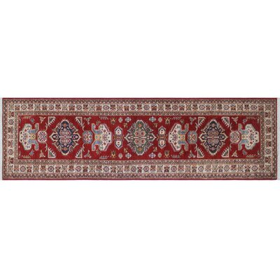 Heron Hand-Knotted Ivory/Rust and Red Area Rug