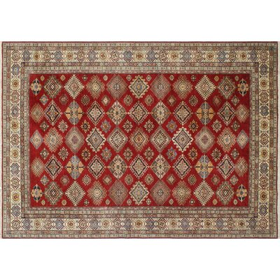 One-of-a-Kind Heron Traditional Hand-Knotted Red Area Rug