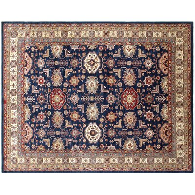 Heron Hand-Knotted Blue Area Rug