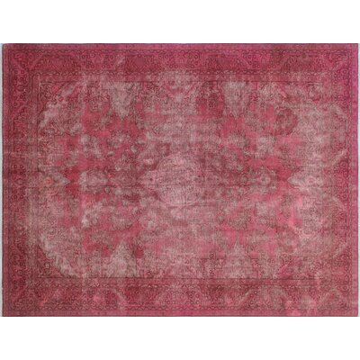 Torrence Vintage Distressed Hand-Knotted Purple/Pink Area Rug