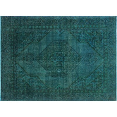 One-of-a-Kind Dorian Distressed Hand-Knotted Teal Area Rug