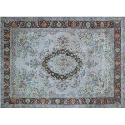 One-of-a-Kind Frankie Distressed Hand-Knotted Beige Area Rug