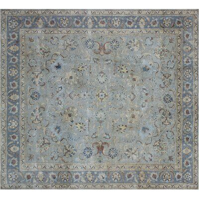 Alsager Vintage Distressed Hand-Knotted Gray Area Rug