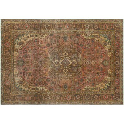 Langley Vintage Distressed Hand-Knotted Pink Area Rug