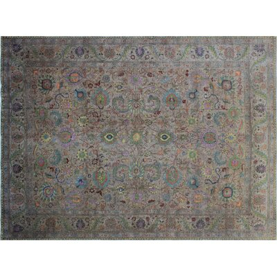 Jools Vintage Distressed Hand-Knotted Grey Area Rug
