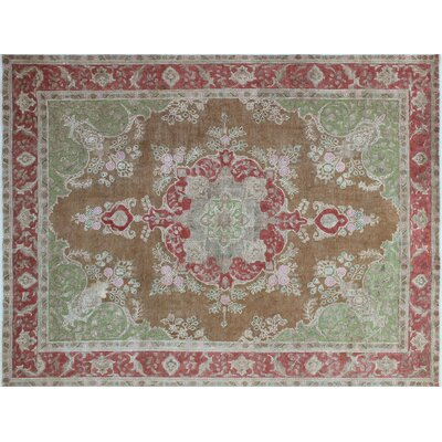 One-of-a-Kind Alber Overdyed Distressed Hand-Knotted Brown Area Rug