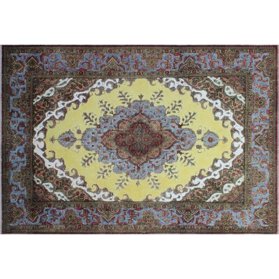 One-of-a-Kind Anja Overdyed Distressed Hand-Knotted Gold Area Rug