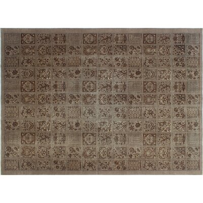 Baynes Overdyed Distressed Hand-Knotted Brown Area Rug