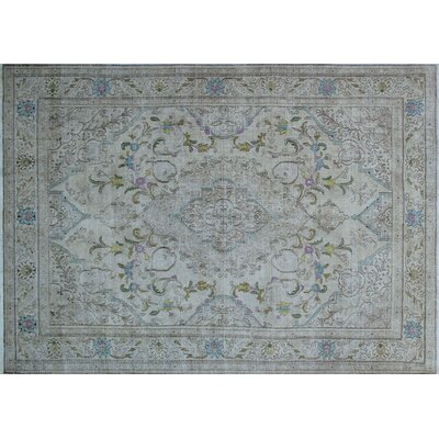 One-of-a-Kind Alissa Overdyed Distressed Hand-Knotted Beige Area Rug