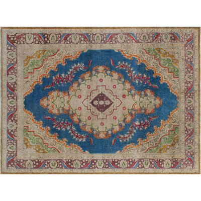 One-of-a-Kind Bellamy Hand-Knotted Blue Area Rug