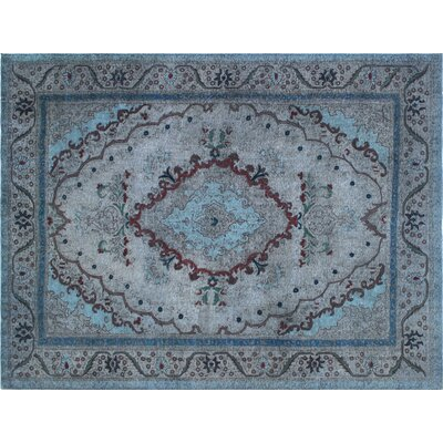 One-of-a-Kind Isabella Hand-Knotted Gray Area Rug