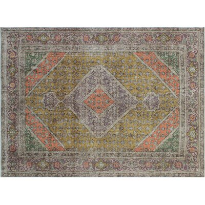 One-of-a-Kind Glouscester Hand-Knotted Gold Area Rug