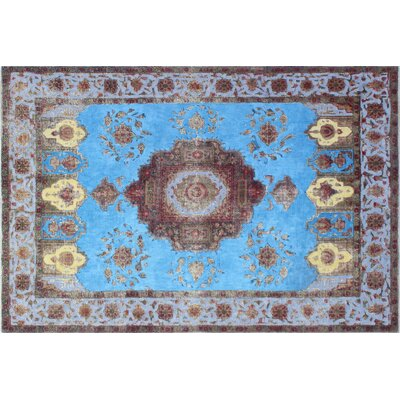One-of-a-Kind Norfolk Hand-Knotted Blue Area Rug