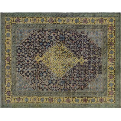 One-of-a-Kind Bee Hand-Knotted Brown Area Rug