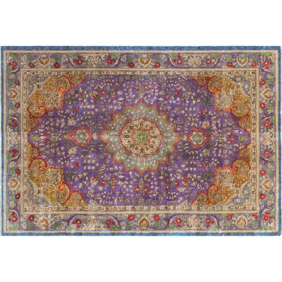 Selena Hand-Knotted Purple Area Rug