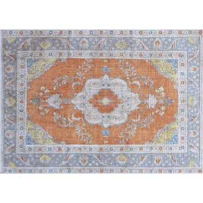 One-of-a-Kind Andrew Hand-Knotted Rust Area Rug
