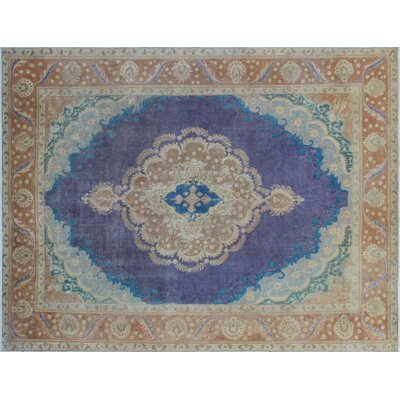 One-of-a-Kind Zachary Hand-Knotted Purple Area Rug