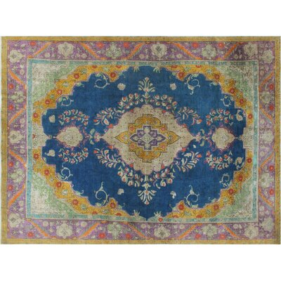 One-of-a-Kind Jason Hand-Knotted Blue Area Rug