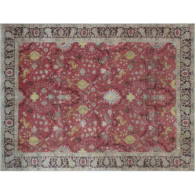 One-of-a-Kind Bobbi Hand-Knotted Rust Area Rug
