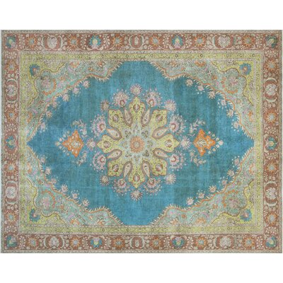 One-of-a-Kind Keri Hand-Knotted Blue Area Rug