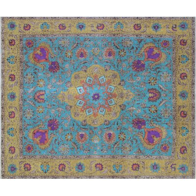 David Hand-Knotted Blue Area Rug