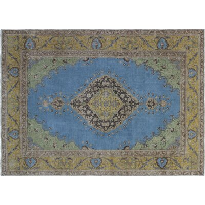 Caspar Hand-Knotted Blue Area Rug
