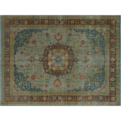 One-of-a-Kind Collete Hand-Knotted Gray Area Rug