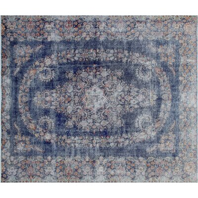 One-of-a-Kind Abigail Hand-Knotted Blue Area Rug