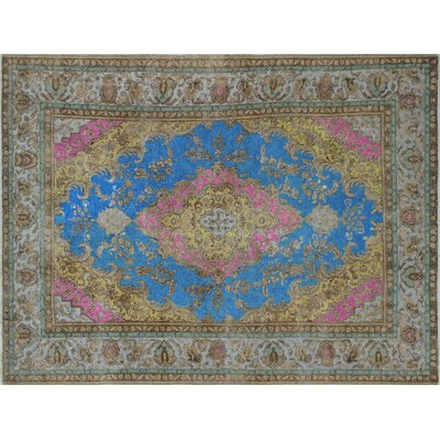 One-of-a-Kind Dree Hand-Knotted Blue Area Rug