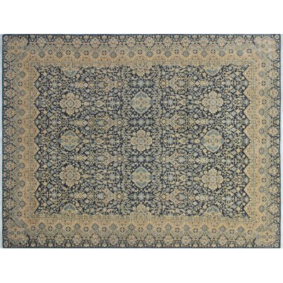 Bridgette Hand-Knotted Blue/Gray Area Rug