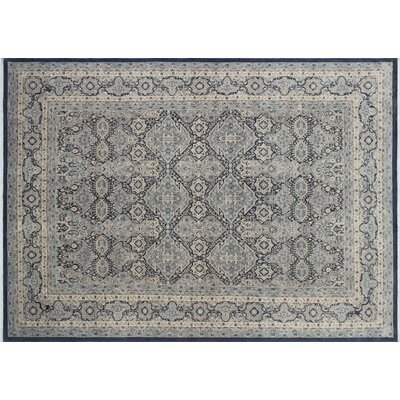 Bridgette Hand-Knotted Rectangle Gray Area Rug