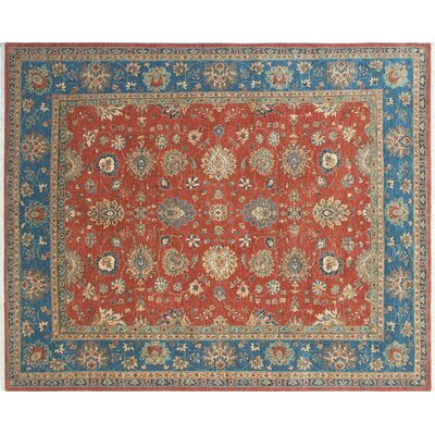 Bridgette Hand-Knotted Rust Area Rug