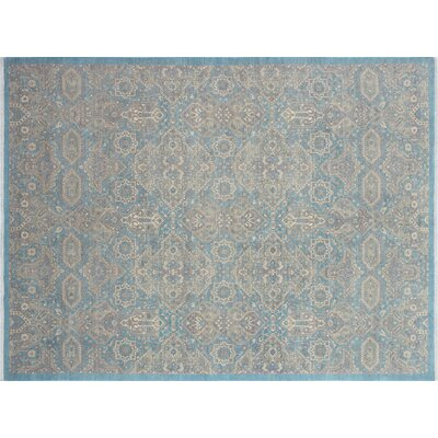 Bridgette Hand-Knotted Lite Blue Area Rug