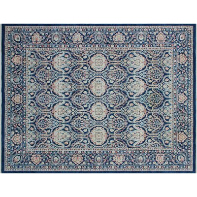Bridgette Hand-Knotted Blue Wool Area Rug