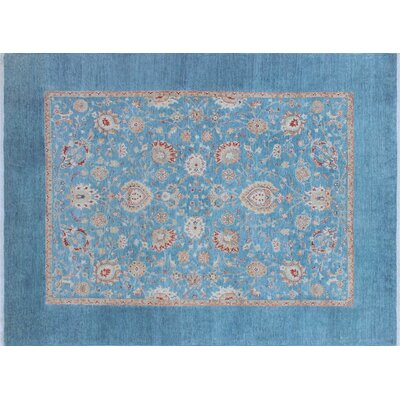 Rosewood Hand-Knotted Blue Area Rug