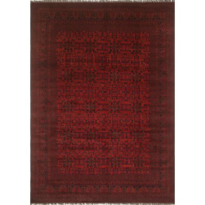 One-of-a-Kind Alban Hand Knotted Wool Red Area Rug