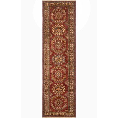 Randy Hand Knotted Wool Red Area Rug