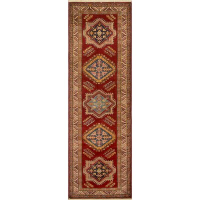 Enrique Hand Knotted Wool Red Area Rug