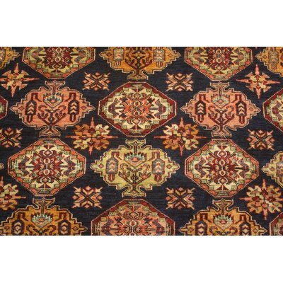 Rockton Hand Knotted Blue/Ivory/Red Area Rug