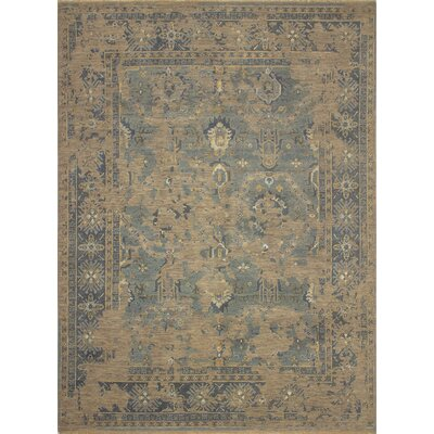 One-of-a-Kind Dravis Oriental Hand-Knotted Wool Gray Area Rug