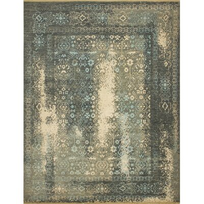 One-of-a-Kind Dravis Hand Knotted Oriental Wool Beige/Gray Area Rug