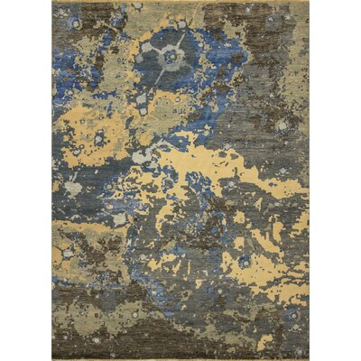 One-of-a-Kind Jackson Hand Knotted Rectangle Wool Blue/Beige Area Rug