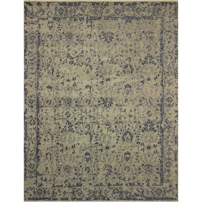 Dravis Hand knotted Wool Blue/Beige Area Rug